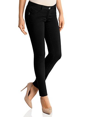 oodji Ultra Donna Jeans Skinny, Nero, 28W/30L (IT 44 / EU 28 / M)