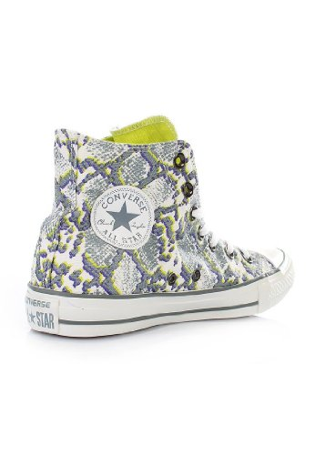 Converse, Chuck Taylor All Star Snake Print, Sneaker,Unisex - adulto Bianco (white purita)
