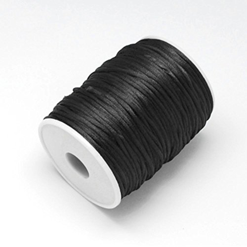 K2-accessories - Corda in nylon 2 mm, 10 m di cordone per Kumihimo satinato, colore: (K2 2 Persona)