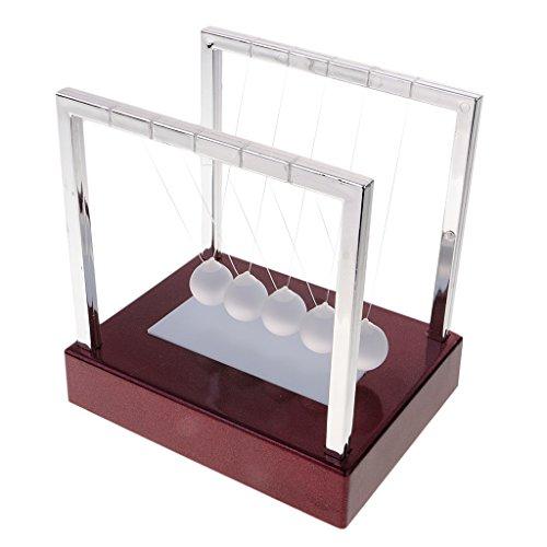 Homyl Kugelstosspendel Kugelstossspiel mit Bunt LED Lichter Wissenschaft Spielzeug - rot