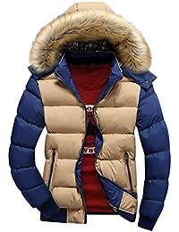 85c3c4789e27 Laisla fashion Herren Warme Winterjacke Parka Jacke Wintermantel Mit Kapuze  Winterparka Mit Zipper Classic Outerwear Kapuzenjacke