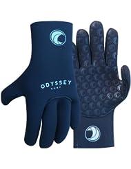 Odyssey - Gants de plongée en néoprène - coutures collées - 4 mm (épaisseur) - taille XS-XL