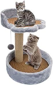 Cat Tree Pet Scratching Post Scratcher Tower Pillar Scratch Climber Kitten Natural Sisal Activity Tree for Cat