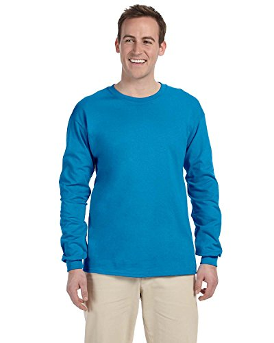 fruit-of-the-loom-maglia-a-manica-lunga-asimmetrico-uomo-pacific-blu-medium