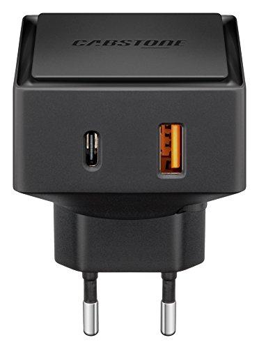Preisvergleich Produktbild Cabstone Quick Charge 3.0 Ladegerät mit USB und USB-C Anschluss 6000mA / 30W