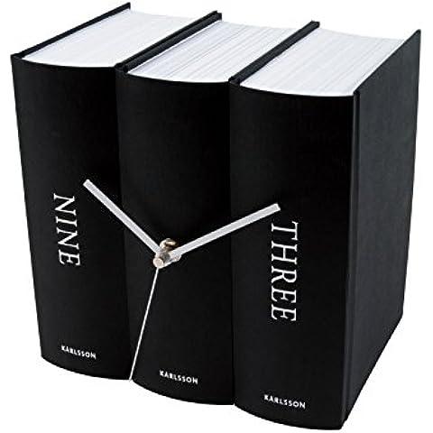 Karlsson Book - Reloj de pared, color negro