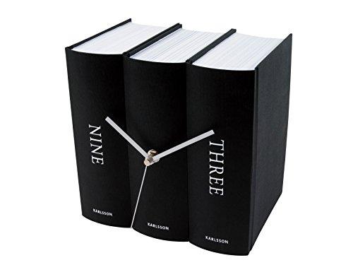 KARLSSON KA4283 Tischuhr Book schwarz Papier Design Sjoerd vanHeumen