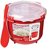 Sistema Microwave Rice Steamer - 2.6 L, Red/Clear