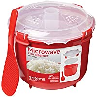 Sistema Microwave Rice Steamer, 2.6 L - Red/Clear