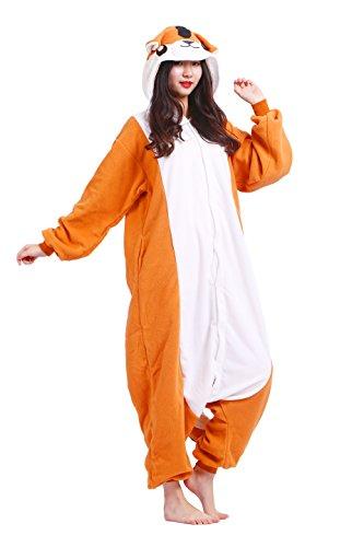 Imagen de magicmode unisex cosplay disfraces de animales kigurumi pijamas adultos enterizo anime sudadera con capucha ropa de dormir de color naranja de la rata de m alternativa