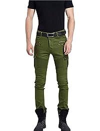 Hombre Pantalones Tapered Para Vaqueros Elasticos Skinny Elegante Jeans
