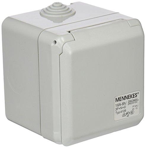 Mennekes (Unternehmen) 101100350Basen in System cepex-th, Steckdosen CEE, 400V, 50–60Hz, 16A, 5-polig, IP 44, 5Paket (60 Hz, 15 Ampere)