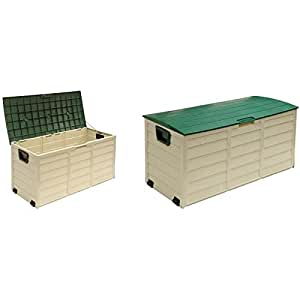 Starplast G34-811 114 x 52 x 56 cm Foldable Cusion Box - Green/Beige
