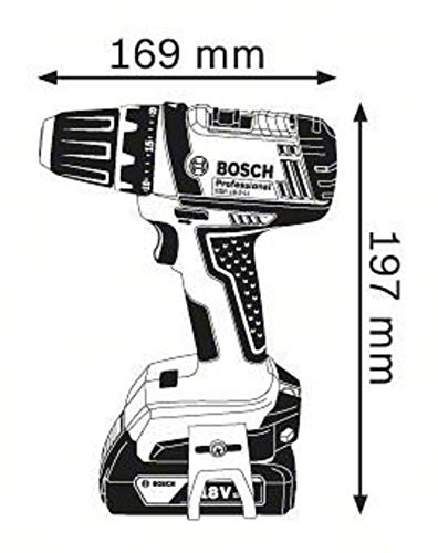 Bosch Professional GSR 18-2-LI Plus Akku-Bohrschrauber, 2×2,0 Ah Akku - 7