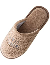 Donna Uomo Famiglia Bambino Pantofole da Casa Warmer Peluche Pelliccia  Pantofole Antiscivolo Scarpe 09cd85673fb