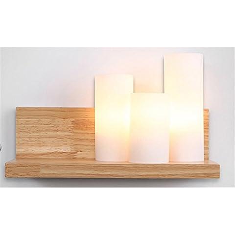 XLSYD semplici di legno luci da parete