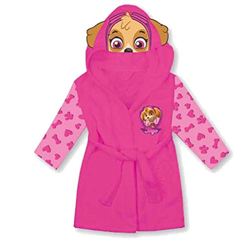 Nick Jr Paw Patrol PINK Skye Dressing gown Bath Robe House coat 2-3