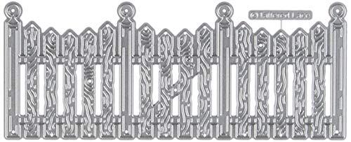Zaun, Metall, Silber, 13,8x 5,5x 0,3cm ()