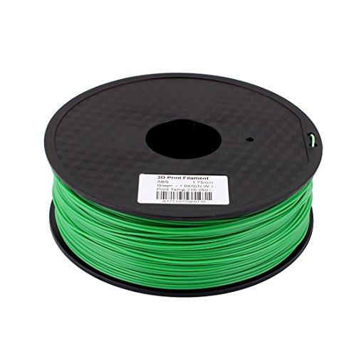 Preisvergleich Produktbild sourcingmap® Grün 1, 75mm ABS 1kg / 2, 2lb 3D Drucker Filament für RepRap Weistek Makerbot de
