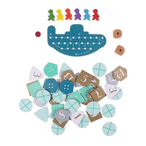 FADACAI 1 Set Deep Sea Adventure Brettspiel mit englischen Anweisungen Kartenspiel 2-6 Spieler