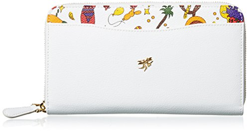 Piero Guidi Magic Circus Classic Leather Organizer Borsa, 19 cm, Bianco