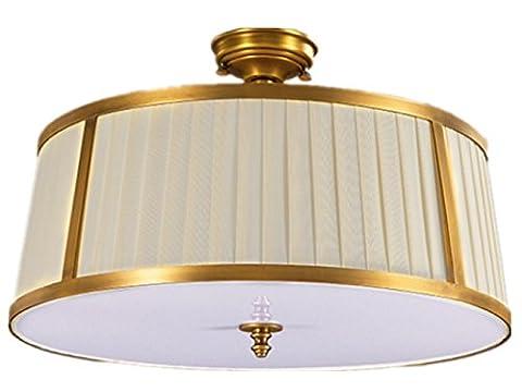XXFFH Glühlampen Leuchtstofflampe Licht Fyn Messing Decke Lampe Für Wohnzimmer Schlafzimmer Küche Die Garderobe Durchmesser 51Cm 25W Einfache (Runde Dekorative Jar)