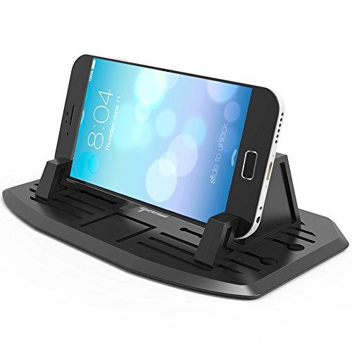[Neue Version] Ipow® Universal Silikon Handyhalterung Antirutschmatte Auto & Haus Doppelzweck Handy Halterung Ständer kompatibel mit Smartphone wie iPhone X 8 7 7 Plus 6s 6 5 4 Samsung Galaxy S7 S6 S5 S4, Mit 2 Größe Halterteile