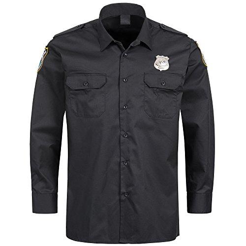 TrendClub100® Polizei Kostüm Uniform für Damen und Herren (Hemd, L)