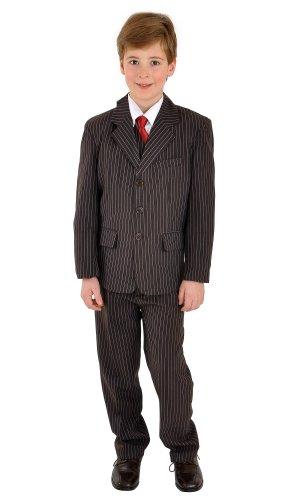 familientrends 5 teiliger Kinderanzug Kommunionsanzug Anzug braun mit Nadelstreifen, Grösse Bekleidung:146/152;Farbe:Braun
