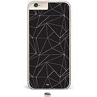 Funda Geometric Negro y Blanco Triangulos - iPhone 6, iPhone 7, iPhone 5, Samsung S6, Samsung S7, Huawei P8 Lite, Motorola Moto G3, Motorola Moto G4, Motorola Moto G4 Plus - Transparente y Plástico Duro - Tumblr Moderno Ilustración