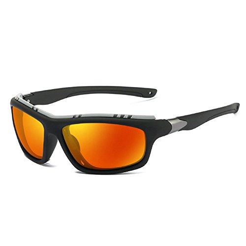 RYRYBH Sonnenbrillen Kinder Brillen Herren Sport polarisierte Sonnenbrille Gummi Material Rahmen Junge Mädchen Strand Sonnenbrille Sonnenbrille (Farbe : Orange, größe : One Size)