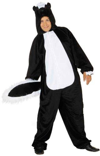 Stinktier Overall Herren Kostüm als Skunk zu Karneval (Skunk Kostüm)