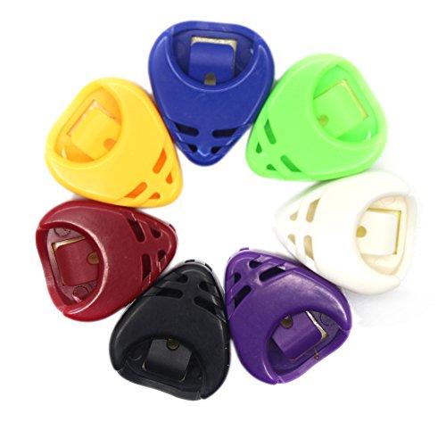 joyliveCY Zufällige Farbe-GitarrePlectrum Halter Taschen Sticky Kunststoff Dreieck Herz Förmigen Entwurf 5pcs/Set Auswahl (Carrier-entwurf)