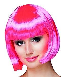 Ciao-Peluca Cabaret Casco rosa fucsia