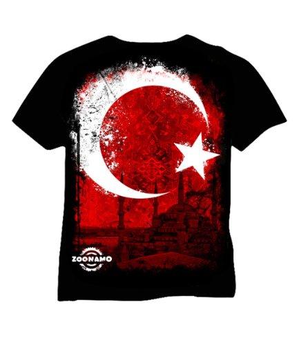 Zoonamo T-Shirt Türkei Classic, Farbe:schwarz, Größe:M