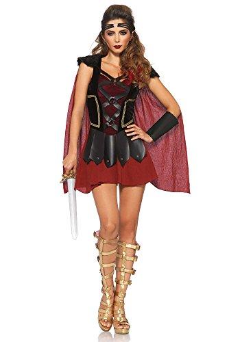 Leg Avenue 85411 - 4Tl. Trojan Krieger Damen kostüm, Größe M/L (EUR 38-40), Damen Karneval Kostüm (Kostüme Krieger)