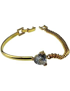 Gazechimp Braut Armband mit Herz Strass