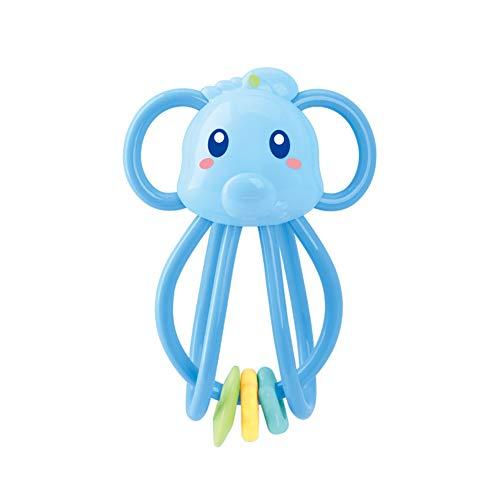 Momangel Personalidad Nueva Manhattan Bola Mordedor Mano Sonajero Bebé Infantil Juguete Blue