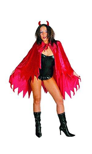 Teufelskostüm Umhang und Hörner - Tolles Set für Halloween und (Rote Kostüm Teufel Halloween Kleine)