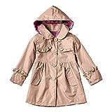 De feuilles Manteau à Capuche Imperméable Bébé Fille Vest Pluie Raincoat Manches...