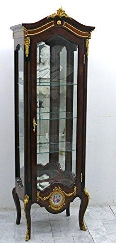 LouisXV Barock Vitrine Rokoko Antik Stil Schrank Louis XV MoVi1096 antik Stil Massivholz....