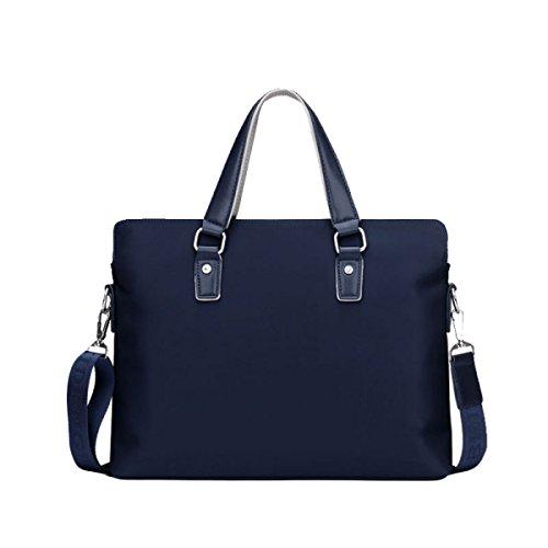 Herren Business Bag Tasche Oxford Handtasche Querschnitt Casual Bag Aktentasche Schultertasche Canvas Bag Diagonal Paket Blue