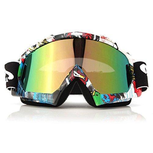 AUDEW Viso Occhiali da sole di protezione maschera Occhialoni moto per attività esterna Motocicletta / Cross / ATV / Sci / Motociclo / Bicicletta Google Anti-UV Antinebbia QL037 len colorato