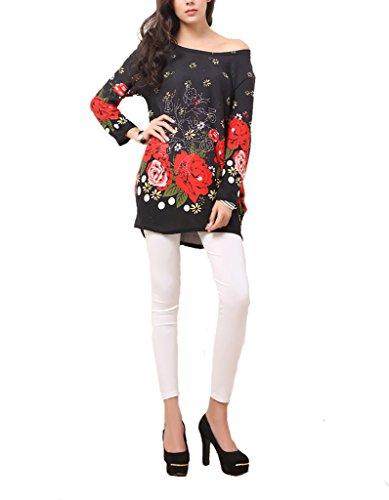Vlunt Femmes-Papillon en soie de glace amovible-robe d'été-automne - H