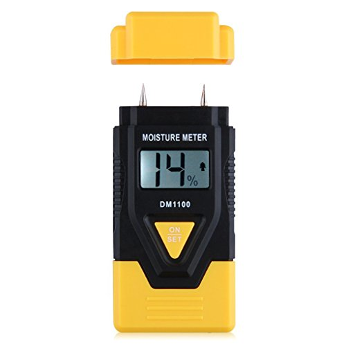 3 in 1 Wood/ Building material Digital Moisture Meter, Sawn timber, Hardened materials and Ambient temperature (°C/°F) DM1100