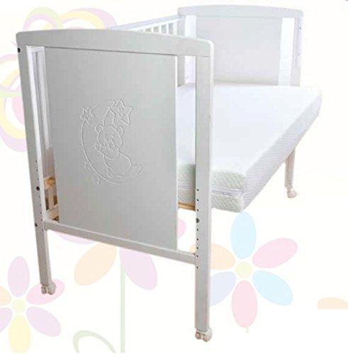 Imagen para Cuna para bebé, modelo Oso Dormilón Mundi Bebé+ KIT COLECHO + Colchón Viscoelástica + Protector de colchón impermeable