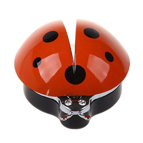 WOVELOT Auto Aria Condizionata Outlet Profumo Beetle Car Deodorante per Auto Profumo Automotive Interni Strass Coccinella Styling O