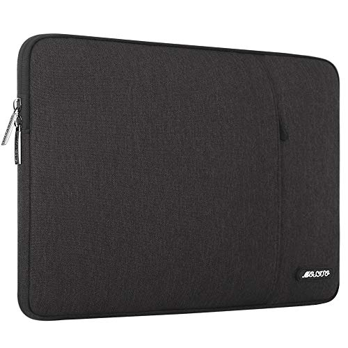 MOSISO Laptophülle Kompatibel 17-17,3 Zoll MacBook Pro, Thinkpad Chromebook Notebook Tablet, Polyester Wasserabweisend Vertikale Stil Sleeve Hülle Laptoptasche Notebooktasche, Schwarz