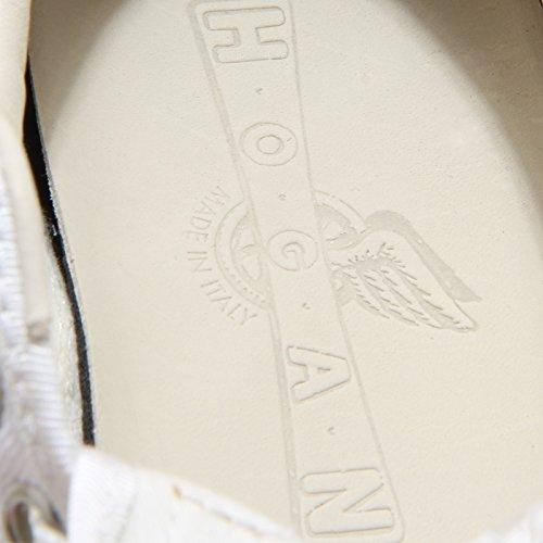 0797L sneakers donna HOGAN traditional allacciata scarpe shoes women Bianco/Blu