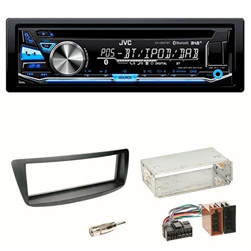 JVC KD-DB97BT Autoradio CD DAB+ Einbauset für Toyota Aygo Citroen C1 Peugeot 107